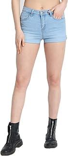 KOTTY Women Skinny Fit Denim Shorts