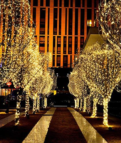 Lichternetz Weihnachtsfeenvorhanglicht 1.5x1.5m Im Freien wasserdichte Lichterketten, Bar Geschäft Oder Party Dekoration Warm White