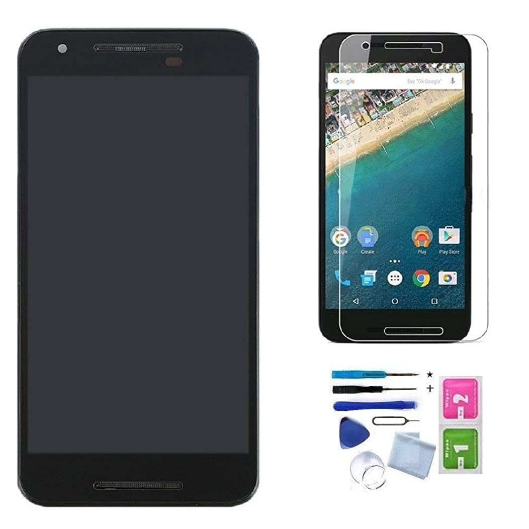LCD Screen Touch Digitizer Assembly Replacement for LG Google Nexus 5X H791 H790 with Frame, Tools, Tempered Glass Screen Protector (NOT for LG Google Nexus 5 D820 D821 & Nexus 4)