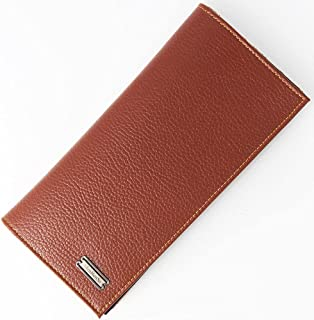 BeniNew men's long wallet ultra-thin multi-functional bag men's suit bag wallet-light brown