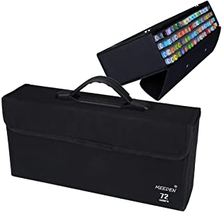 MEEDEN 72 Slots Markers Carrying Case Empty Holder for Copic Prismacolor Touch Spectrum Noir Paint Markers