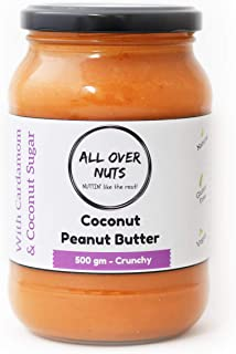 All Over Nuts Coconut Peanut Butter, Crunchy 500 gm (Stone Ground, Gluten Free, Vegan)