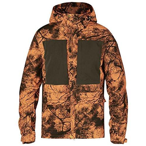 FJÄLLRÄVEN Lappland Hybrid Jacket Camo Veste Softshell Homme, Camouflage Orange, 3XL