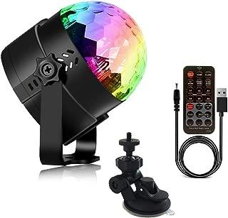 AveyLum Disco Ball Party Light USB Night Light Sound Control Strobe Light for Kids Birthday Karaoke Bar Club Stage DJ Camping Lighting