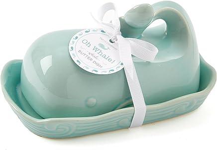 Preisvergleich für Two's Company 51197 Oh Whale Butter Dish, Seafoam