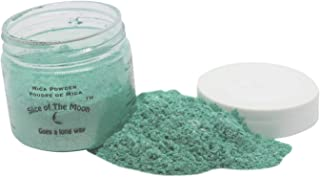 Slice of the Moon: Flashing Green Mica Powder 28g, Natural Mineral Mica, Cosmetic Grade for Lipstick Lip Gloss Bath Bombs Epoxy Resin Face Blush Powder Eye Pencil Dye Pigments Candle Making