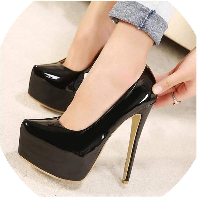 YP-fashion Stiletto 15cm Thin high Heels Sexy Nightclub Pumps Women's Wedding shoes