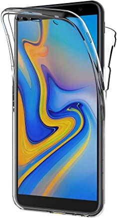 AICEK Coque Samsung Galaxy J6 Plus, 360°Full Body Transparente Silicone Coque pour Samsung Galaxy J6+ Housse Silicone Etui Case (6,0 Pouces)