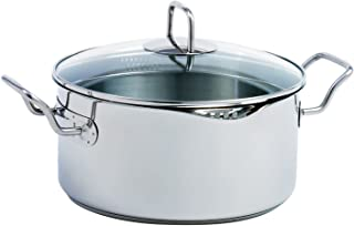 Norpro KRONA 5 Quart Vented Pot with Straining Lid, Stainless Steel