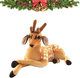 TQZY Christmas Elk Moose Reindeer Stuffed Animal Plush PP Cotton Filling Simulation Sika Deer Plush Toy Christmas Decoration