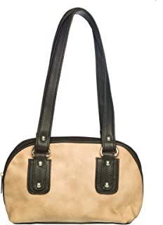 Khadim's Beige Synthetic Leather Solid Casual Handbag for Women