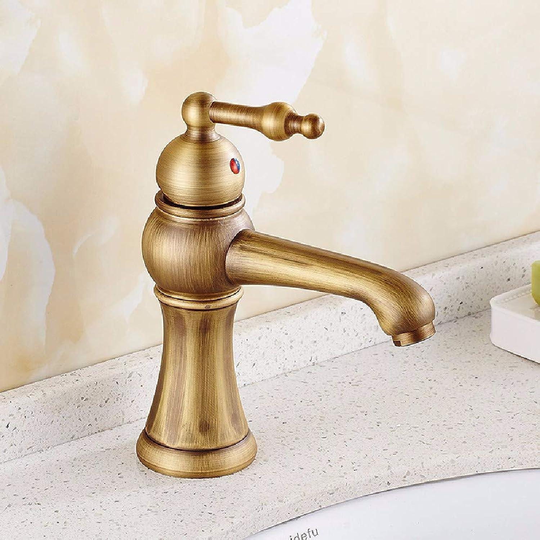 LHbox Bad Armatur in Bad für Waschbecken Waschtisch Wasserhahn Waschtischarmatur Continental Antike Waschbecken,