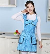 Apron Designs Women Apron Cute Printed Apron for Home Kitchen (Sky Blue)