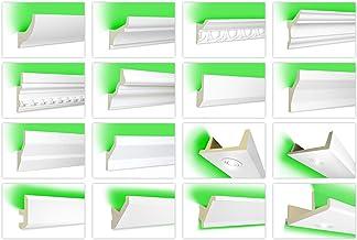 HEXIM LED-sierlijsten van PU - indirecte verlichting met moderne plafondlijsten, ondoorzichtig, licht en slagvast - (LED-2...