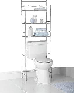 Mainstays 3-Shelf Bathroom Space Saver, Fits Most Standard Toilets (1, Satin Nickel Finish)