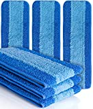 VanDuck Microfiber Cleaning Pads Compatible with Bona Mop (6 Pack). Hardwood Floor Replacement Cleaning Head