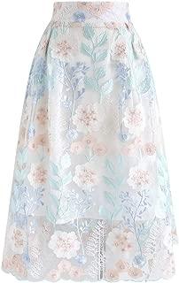 Best floral organza midi skirt Reviews