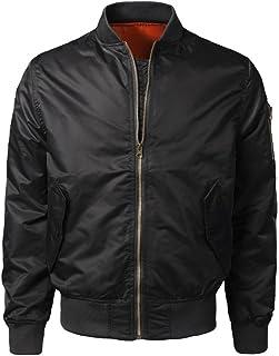 GREFER New Men Spring Autumn Winter Casual Solid Slim Bomber Jacket Zipper Outwear