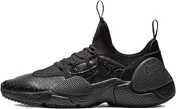 Nike Mens Huarache E.D.G.E Leather Running Shoes Black/Black-White AV3598-002 Size 11