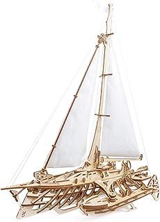 UGEARS Trimaran Merihobus Modèle 3D en Bois - Puzzle A Encastrement Adulte, Miniature Mécanique, Puzzle à Construire, Jeu ...