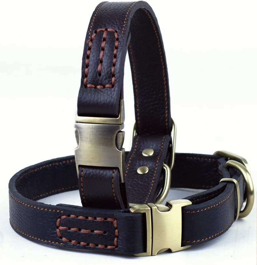 OCSOSO Adjustable Finest Genuine Leather Dogs D for Collar High Special sale item quality Large