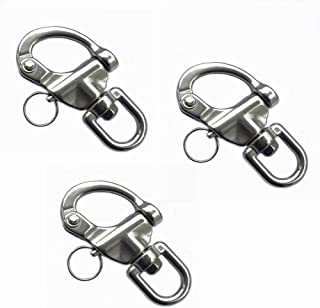 Long Buy 3Pack Swivel Eye Snap Shackle Quick Release Bail Rigging Sailing Boat Marine 316 Stainless Steel for Sailboat Spi...