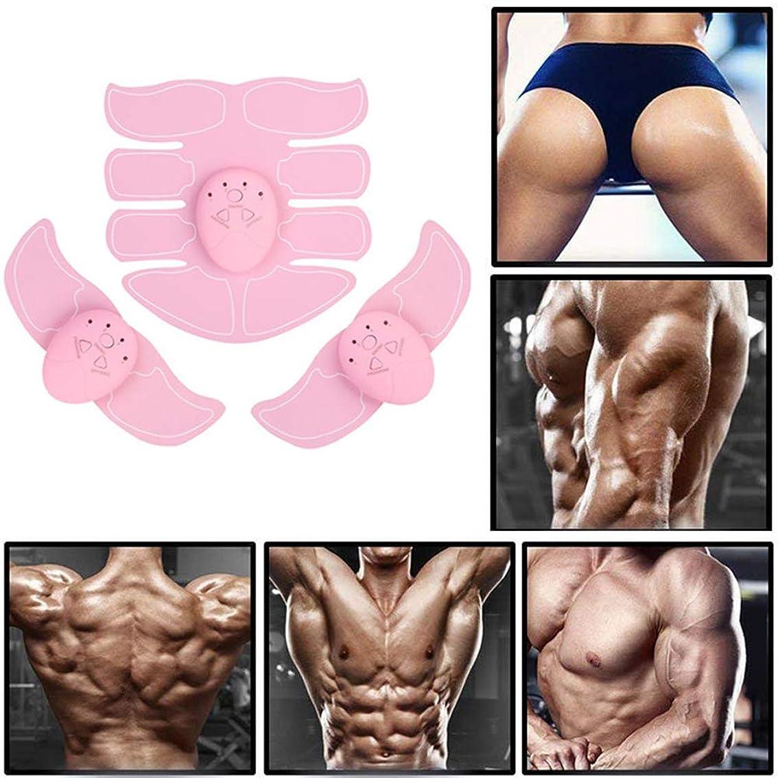 しつけ慢性的スティーブンソンEMSの筋肉刺激装置、筋肉の調子を整える腹部トレーナー、筋肉トレーニング男性と女性のためのAbベルトフィットネストレーニング機器