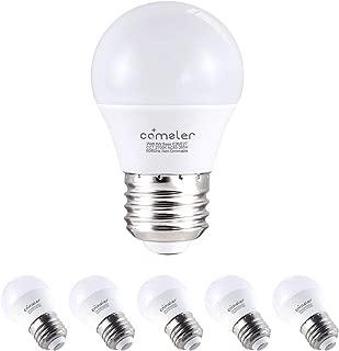 Comzler Frosted A15 LED Bulbs 6 Watts Soft White Light 2700K, 60 Watts Globe Light Bulb Equivalent, E26 Standard Screw Base A15/G45 Shape LED Appliance Bulb Refrigerator 6-Pack