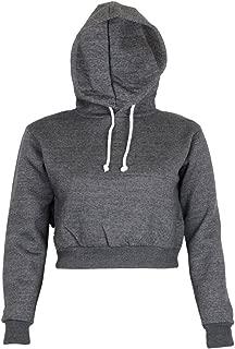 Womens Plain Crop Top Hoodies