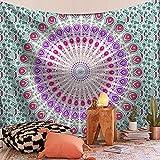 Mandala indio tapiz grande para colgar en la pared, alfombra de playa, manta, colchón, cojín de dormir bohemio, tapiz A6 150x200cm