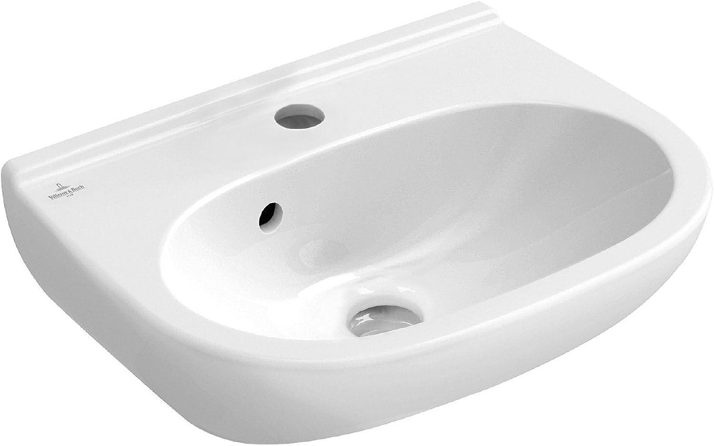 Villeroy and Boch O Novo, 45?cm, 1-Piece, White, 02509?6?Hand Wash Basin