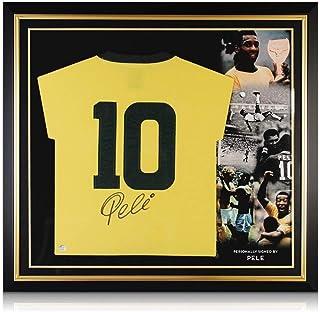 Camiseta de fútbol Brtazil firmada por Pelé: número 10. Cuadro Premium
