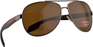 SPS 53PS Sunglasses Gunmetal w/Polarized Brown Lens 62mm 5AV5Y1 PS 53PS PS53PS SPS53P