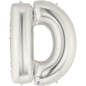 Betallic Letter C Megaloons 40in Silver Mylar Balloon 710236