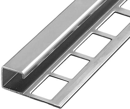 11 mm I Edelstahl V2A gl/änzend HORI Fliesenprofil I L/änge 2,50 m I Quadroprofil I H/öhe