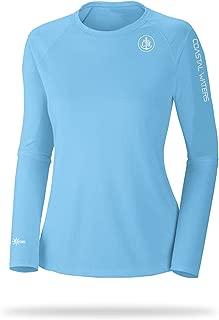 Womens UPF 50+ UV Long Sleeve Sun Protection Crew Neck Long Sleeve T Shirt