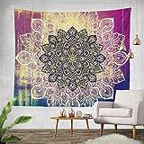 Goldbeing indischer Wandteppich Wandbehang Mandala Tuch Wandtuch Gobelin Tapestry Goa Indien Hippie-/ Boho Stil als Dekotuch/Tagesdecke indisch orientalisch Psychedelic (203 x 153cm, Style 2)