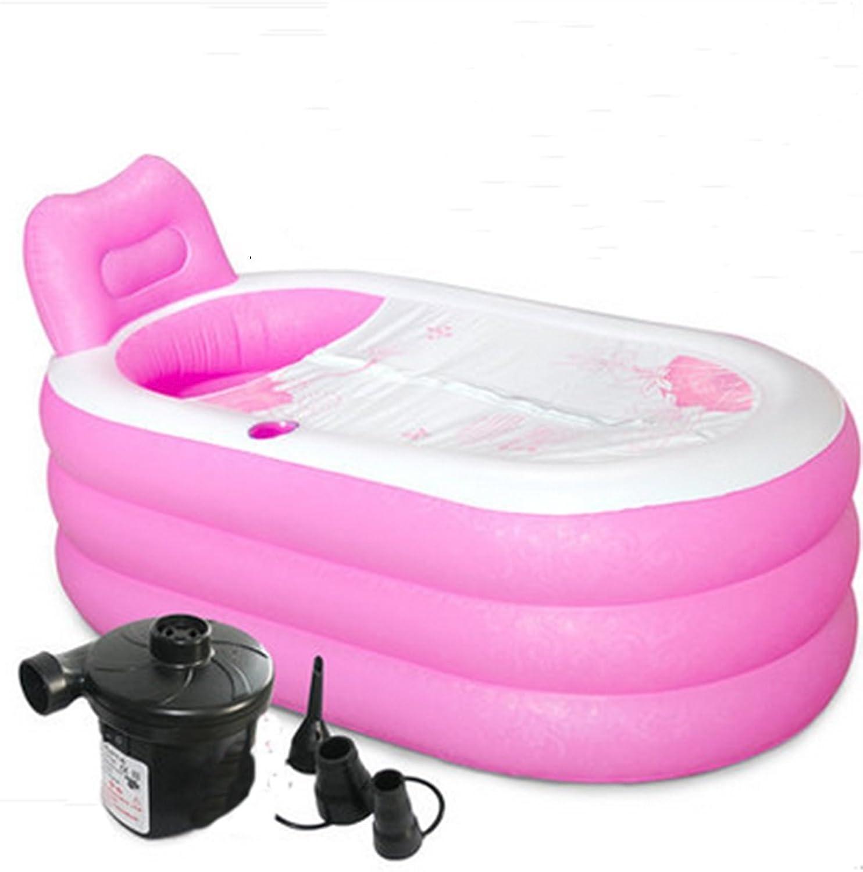 ZHILIAN Aufblasbare Badewanne Verdickte Erwachsene Wanne Falten Bad Barrel Kunststoff Badewanne Wanne (Farbe   2 , gre   150cm88cm)