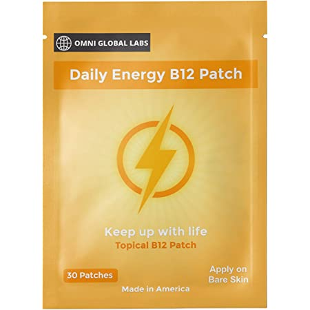 Once Daily B12 Energy Patch - Made in The USA - 30 Patches