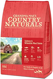 Grandma Mae's Country Naturals Salmon & Whitefish Meal Entrée 25 Lb for Dogs