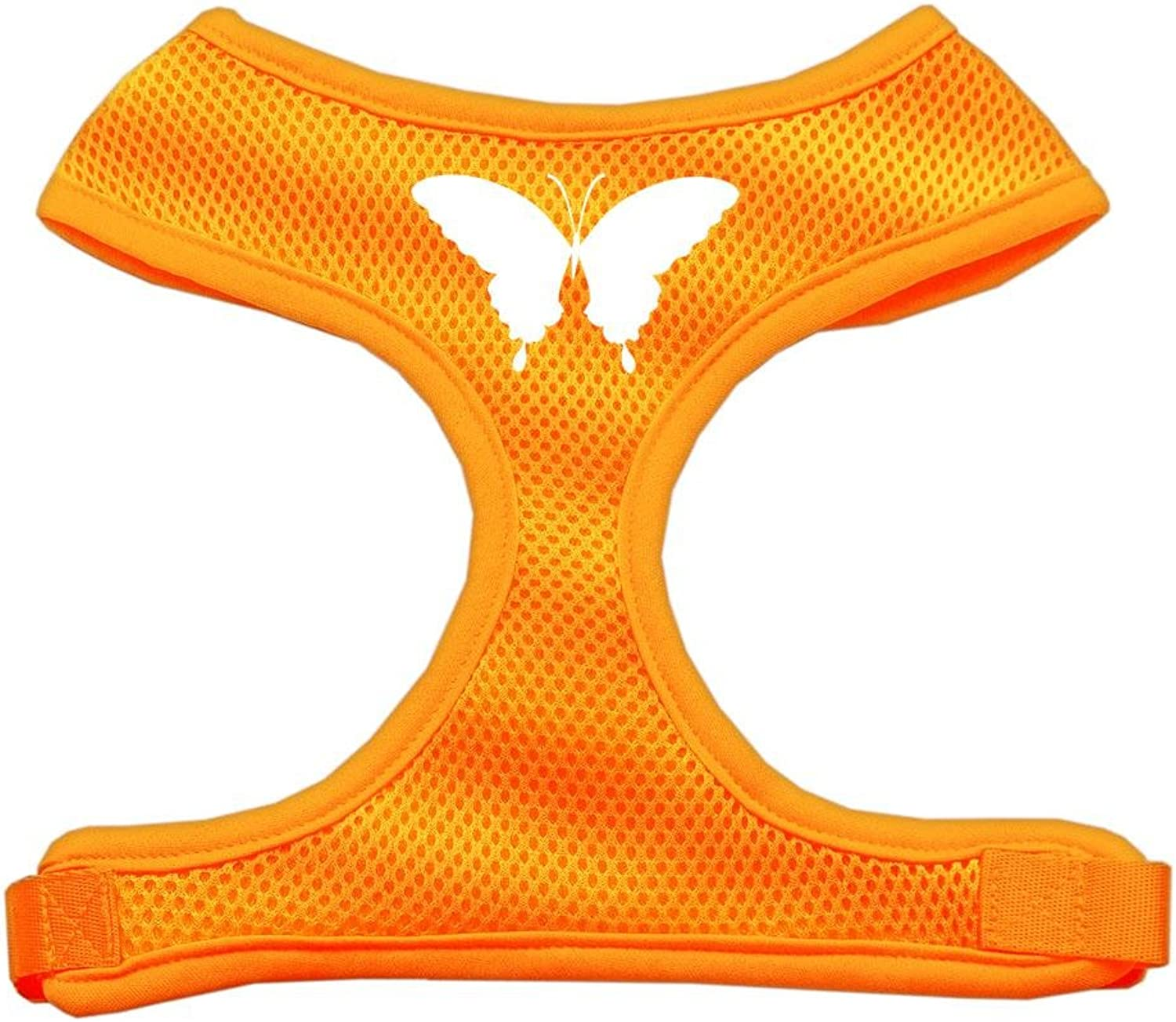 Mirage Pet Products Butterfly Design Soft Mesh Dog Harnesses, XLarge, orange