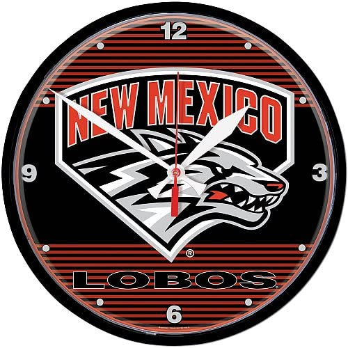 Wincraft Selling New Mexico Lobos Clock Charlotte Mall Round