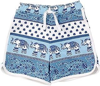 Masala Kids Little Boys Swim Shorts Passage to India Turquoise 2Y [並行輸入品]