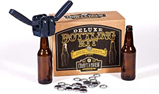 Sponsored Ad - Deluxe Bottling Kit – Craft a Brew Homebrew Bottler Equipment – Home Brewing Easy Bottling Set – 10 Empty 1...