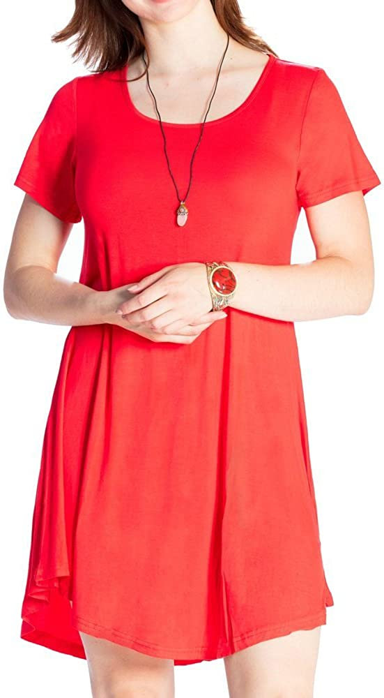 JollieLovin Directly managed Milwaukee Mall store Women's Tunic Top Casual Swing Short Sleeve Loose T-