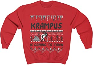 Funny Ugly Christmas Sweater for Men & Women, Krampus is Coming to Town