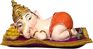Krishna Culture Sweet Sleepy Baby Ganesh Statue 2.75