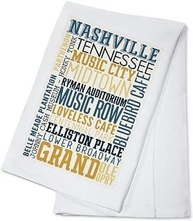 Nashville, Tennessee - Typography (100% Cotton Kitchen Towel)