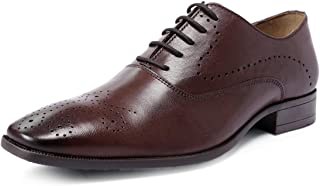 one8 Select by Virat Kohli Men's Brown Leather Brogue Shoes