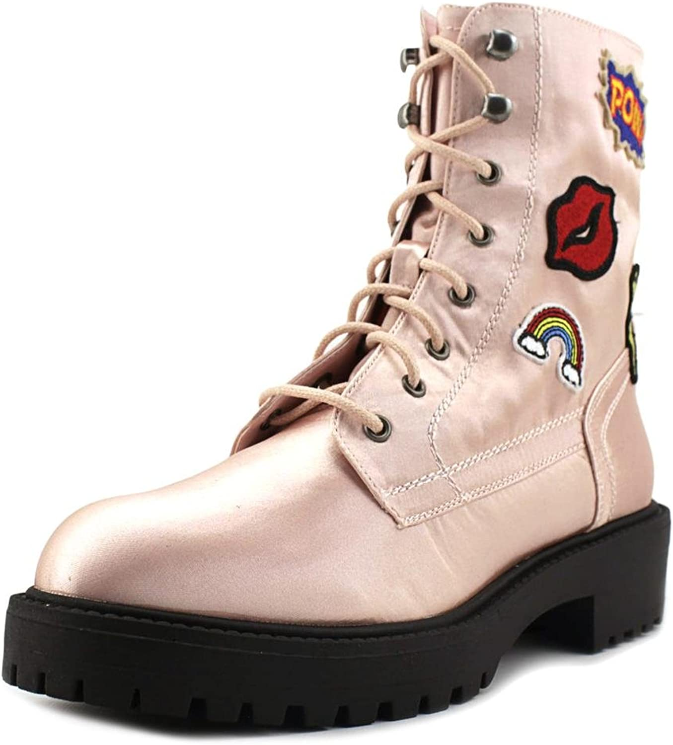 Coolway DRAC Women Round Toe Synthetic Combat Boot Pink